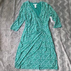 Laundry by Design faux wrap dress
